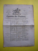 Courrier Des Théatres Paris 1840 Avec Timbre Royal Illustration Cheval - Publicités