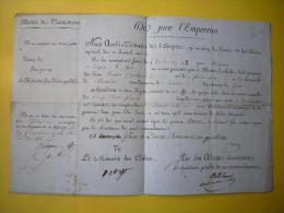 Brevet De Traitement Révolution An 12 De Par L´Empereur à Gênes 12 Brumaire An 14 Département Du Gers - Manuscritos