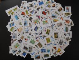 Enorme Lot De Plus De 600 Timbres Personnalisés Provenant De Collectors Oblitérés (230 Décollés Et 380 Sur Fragment) - France