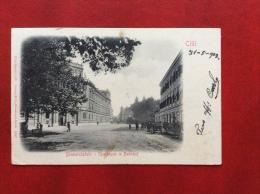 SLOVENIA - CILLI - CELJE - BISMARCKPLATZ - STARKASSE U.BAHNHOF - VIAGGIATA A MODENA  NEL 1902 - ANNULLO A BARRE - Slovenia