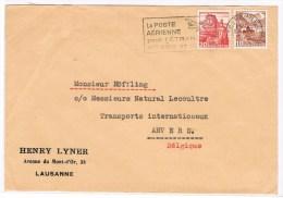 T6. La Poste Aérienne Pour L´étranger Est Sûre Et Rapide. Lausanne 29. - 1947. - Airmail