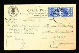 CARTE POSTALE SINGAPORE 1949  :  VOIR 2 SCANS