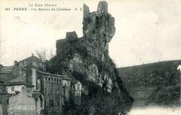 N°6724A -cpa Penne -les Ruines Du Château- - Francia