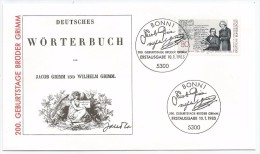 Allemagne RFA 1985 1068 FDC Frères Grimm Contes Linguistes - Fairy Tales, Popular Stories & Legends