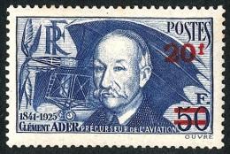 FRANCE 1941 - Yv. 493 *   Cote= 40,00 EUR - Clément Ader ..Réf.FRA27287 - Francia