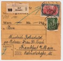 DR, 1922, Nr. 97B, Geprüft Auf Paketkarte   # 1577 - Covers & Documents