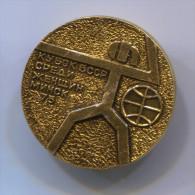 FENCING / SWORDSMANSHIP - Russian Pin Badge, Diameter 25 Mm - Schermen