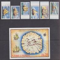Sao Tome E Principe 1979 Sailing Ships 6v + M/s Map Used (F3309) - Sao Tome En Principe