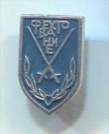 FENCING / SWORDSMANSHIP - Russian Pin Badge - Schermen