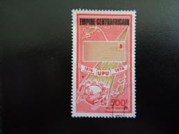 Centrafrique 1977 Poste Aérienne N°PA166 Oblitéré Centenaire De L'UPU Surchargé - Repubblica Centroafricana