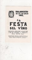CP SIGNEE LARDIE.BALANGERO.1ERE FESTA DEL VINO.1982 - Bolsas Y Salón Para Coleccionistas