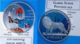 CONGO 10 F 2006 ARGENTO PROOF SILVER GARDE SUISSE PONTIFICALE 1506-2006 PESO 25g TITOLO 0,925 CONSERVAZIONE FONDO SPECCH - Congo (Repubblica Democratica 1998)