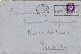 ROMA 1938 - NITIDO ANNULLO MECCANICO FUHRER DUX CON SVASTICA - S9076 - Marcofilía