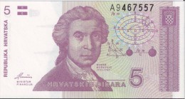 CROATIE - 5 Dinara 1991 - UNC - Croatia