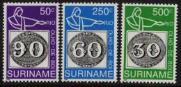 Surinam / Suriname 1993 Brasiliana Olho De Boi Stamp On Stamp MNH - Timbres Sur Timbres