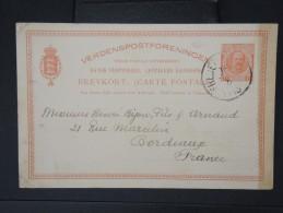 DANEMARK-ANTILLES- Entier Postal De Frederiksted Pour La France En 1915 à Voir LOT P5092