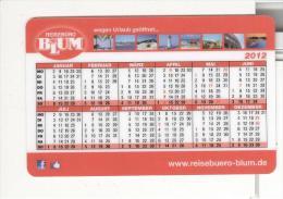 BRD Mannheim Taschenkalender 2012 Blum Reisebüro Leuchtturm Meer Kolosseum Rom - Calendars