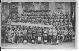 Fanfare Du 3ème Génie Groupe Avec Ses Instruments 1930-1940 1 Carte Photo 1940 Ww2 Wk2 - Krieg, Militär