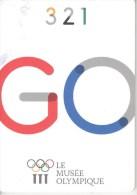 Schweiz Lausanne Olympisches Museum Faltkarte 2014 - Olympische Spiele