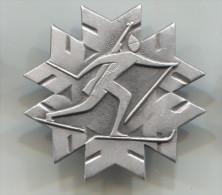 BIATHLON -  Soviet Union Russia, Vintage Pin Badge, 35 X 35 Mm - Biathlon