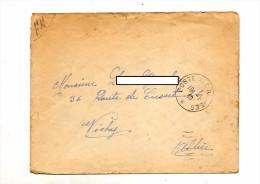 Lettre Franchise Militaire Cachet Poste Aux Armees - Storia Postale