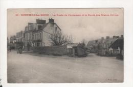 Donville Les Bains La Route De Coutances Et Route Des Blancs Arbres - Zonder Classificatie