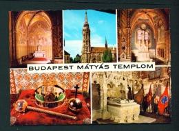 HUNGARY  -  Budapest  Matthias Church  Multi View  Unused Postcard As Scan - Hungary