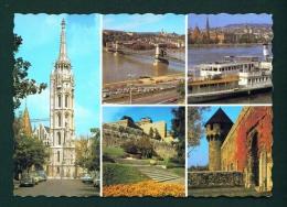 HUNGARY  -  Budapest  Multi View  Unused Postcard As Scan - Hungary