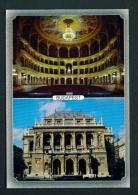 HUNGARY  -  Budapest  Opera House  Dual View  Unused Postcard As Scan - Hungary