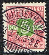 1907. Newspaper Stamps. 5 Kr. Red/green Wmk. Crown. LUX KJØBENHAVN 3. 3. 12 (Michel: V9X) - JF157783 - Non Classés