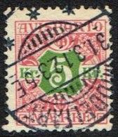 1907. Newspaper Stamps. 5 Kr. Red/green Wmk. Crown. MIDDELFART 31. 3. 12 (Michel: V9X) - JF157784 - Non Classés