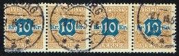 1907. Newspaper Stamps. 10 Kr. Brown/blue Wmk. Crown. 4-stripe AALBORG 8. 1. 15 (Michel: V10X) - JF157876 - Danemark