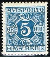 1914. Newspaper Stamps. 5 Øre Blue. Wmk. Crosses. (Michel: V2Y) - JF158755 - Danemark
