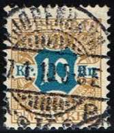 1907. Newspaper Stamps. 10 Kr. Brown/blue Wmk. Crown. LUX KJØBENHAVN 27. 1. 10. (Michel: V10X) - JF158763 - Danemark