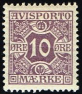 1907. Newspaper Stamps. 10 Øre Lilac. Wmk. Crown. (Michel: V4X) - JF158758 - Non Classés