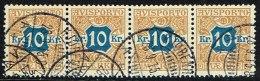 1907. Newspaper Stamps. 10 Kr. Brown/blue Wmk. Crown. 4-stripe KJØBENHAVN 28. 9. 15. (Michel: V10X) - JF157877 - Non Classés