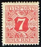 1914. Newspaper Stamps. 7 Øre Red. Wmk. Crosses. (Michel: V3Y) - JF158756 - Non Classés