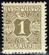1907. Newspaper Stamps. 1 Øre Olive Wmk. Crown. (Michel: V1X) - JF158752 - Danemark