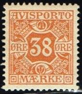 1907. Newspaper Stamps. 38 Øre Orange. Wmk. Crown. (Michel: V6X) - JF158760 - Denmark