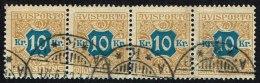 1907. Newspaper Stamps. 10 Kr. Brown/blue Wmk. Crown. 4-Stripe (Michel: V10X) - JF157875 - Non Classés