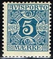 1907. Newspaper Stamps. 5 Øre Blue. Wmk. Crown. (Michel: V2X) - JF158754 - Danemark