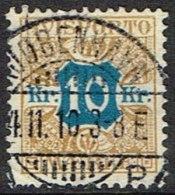 1907. Newspaper Stamps. 10 Kr. Brown/blue Wmk. Crown. LUX KJØBENHAVN 4. 11. 10 (Michel: V10X) - JF157986 - Non Classés