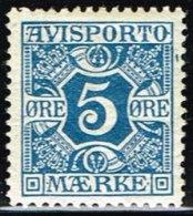 1914. Newspaper Stamps. 5 Øre Blue. Wmk. Crosses. (Michel: V2Y) - JF158753 - Danemark