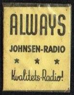 ALWAYS JOHNSEN-RADIO Kvalitets-Radio 1 øre.  (Michel: ) - JF163935 - Non Classés