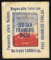 JEG SÅ FRANKRIG FALDE Bogen Alle Taler Om 1 øre.  (Michel: ) - JF163937 - Danemark