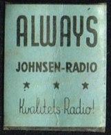 ALWAYS JOHNSEN-RADIO Kvalitets-Radio 1 øre.  (Michel: ) - JF163949 - Non Classés