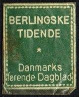 BERLINGSKE TIDENDE Danmarks Førende Dagblad. 1 øre.  (Michel: ) - JF163932 - Danemark