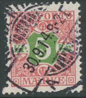1907. Newspaper. 5 Kr. Yellow-green/rose. Perf. 12 3/4, Wmk. New Crown (Michel: V9X) - JF300080 - Non Classés