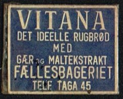 VITANA DET IDELLE RUGBRØD MED GÆR OG MALTEKSTRAKT 1 øre.  (Michel: ) - JF163946 - Non Classés