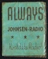 ALWAYS JOHNSEN-RADIO Kvalitets-Radio 1 øre.  (Michel: ) - JF163918 - Non Classés